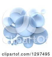 Clipart Of 3d Transparent Blue Circular Disks On White Royalty Free Illustration by Frank Boston
