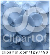 Clipart Of A Background Of 3d Transparent Blue Circular Disks Royalty Free Illustration by Frank Boston