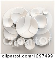 Clipart Of 3d White Circular Disks On Shading Royalty Free Illustration by Frank Boston
