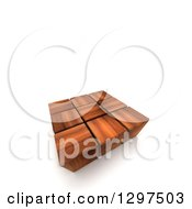 Clipart Of A 3d Group Of Wood Cubes On White With Text Space Royalty Free Illustration