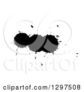 Clipart Of Black Ink Splatters On White 4 Royalty Free Illustration