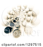 Clipart Of A 3d Circle Of Sepia Toned Spheres On White Royalty Free Illustration