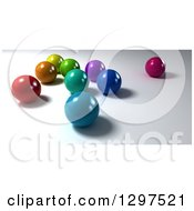 Clipart Of 3d Colorful Marbles On Shading 2 Royalty Free Illustration