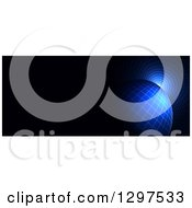 Clipart Of A 3d Grid Globe And Vortex On Black With Text Space 2 Royalty Free Illustration