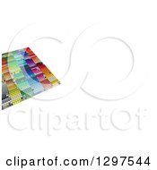 Clipart Of A 3d Grid Of Colorful Blocks With White Text Space 2 Royalty Free Illustration
