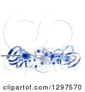 Clipart Of A 3d White Pearl With Blue Ribbons And Spheres On White With Text Space Royalty Free Illustration