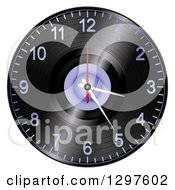 Clipart Of A 3d Vinyl Record Albul Wall Clock Royalty Free Vector Illustration by elaineitalia