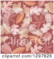 Leaf Seamless Background Pattern In Pink Red And Orange Masala Tones