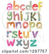 Clipart Of Stitched Patterned Alphabet Letters Royalty Free Vector Illustration