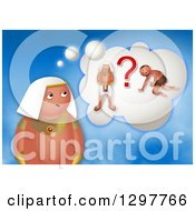 Clipart Of A Confused Moses Thinking Of Slave Or Egyptian Prince Royalty Free Illustration by Prawny