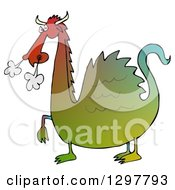 Clipart Of A Snorting Angry Gradient Colorful Dragon Royalty Free Illustration by djart