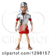 Clipart Of A 3d Young Male Roman Legionary Soldier Royalty Free Illustration by Julos
