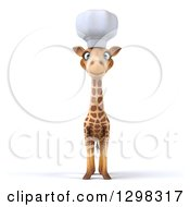 Clipart Of A 3d Chef Giraffe Royalty Free Illustration