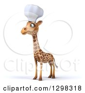 Clipart Of A 3d Chef Giraffe Facing Slightly Left Royalty Free Illustration
