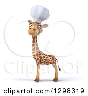 Clipart Of A 3d Chef Giraffe Looking At The Viewer Body Facing Left Royalty Free Illustration