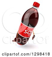 Clipart Of A 3d Soda Bottle Character Facing Right And Pouting Royalty Free Illustration