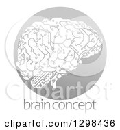 Circuit Board Artificial Intelligence Brain In A Gray Circle Over Sample Text