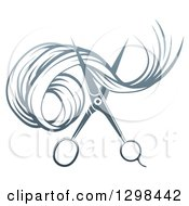 Gradient Scissors Cutting Hair