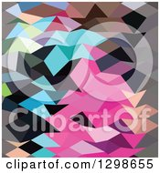 Clipart Of A Low Poly Abstract Geometric Background Colorful Abstract Crystals Royalty Free Vector Illustration by patrimonio