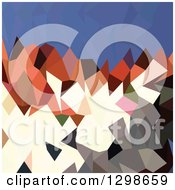 Clipart Of A Low Poly Abstract Geometric Background Of Mountains And Sky Royalty Free Vector Illustration by patrimonio