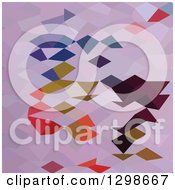 Clipart Of A Low Poly Abstract Geometric Background Of Clowns Royalty Free Vector Illustration by patrimonio
