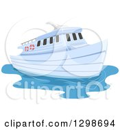 Clipart Of A Ferry Boat Royalty Free Vector Illustration by BNP Design Studio