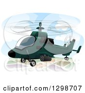 Clipart Of A Military Assault Helicopter Royalty Free Vector Illustration by BNP Design Studio