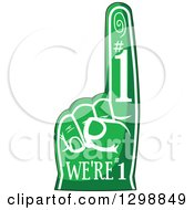 Clipart Of A Green Sports Foam Finger With Text Royalty Free Vector Illustration