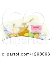 Clipart Of Homemade Remedies Royalty Free Vector Illustration