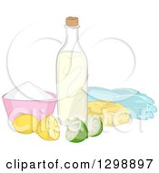 Clipart Of Natural Cleaning Ingredients Royalty Free Vector Illustration by BNP Design Studio