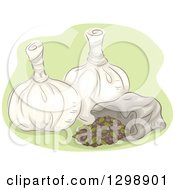 Clipart Of Poultices Royalty Free Vector Illustration
