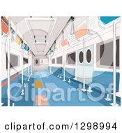 Clipart Of An Empty Subway Car Royalty Free Vector Illustration
