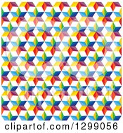 Clipart Of A Geometric Background Of Colorful Stars On White Royalty Free Vector Illustration