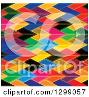 Clipart Of A Background Of Colorful Arrows Royalty Free Vector Illustration