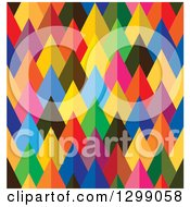 Clipart Of A Geometric Background Of Colorful Arrows Or Pyramids Royalty Free Vector Illustration