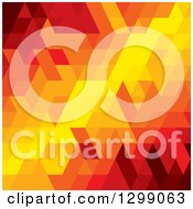 Clipart Of A Geometric Background Of Orange Red And Yellow Royalty Free Vector Illustration
