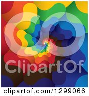 Clipart Of A Background Of A Colorful Spiraling Tunnel Royalty Free Vector Illustration