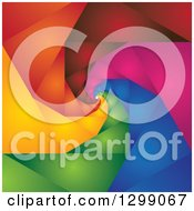 Clipart Of A Background Of A Colorful Spiraling Geometric Tunnel Royalty Free Vector Illustration