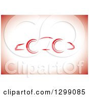 Clipart Of A Simple Car Sketch On White And Red Royalty Free Vector Illustration by ColorMagic