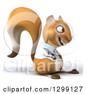 Clipart Of A 3d Doctor Or Veterinarian Squirrel Facing Right Royalty Free Illustration