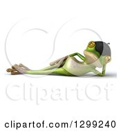 Clipart Of A 3d French Springer Frog Resting On His Side Royalty Free Illustration by Julos