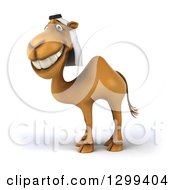 Clipart Of A 3d Arabian Camel Facing Left Royalty Free Illustration
