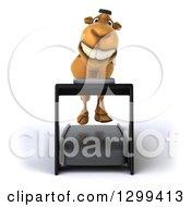 Clipart Of A 3d Arabian Camel Running On A Treadmill Royalty Free Illustration
