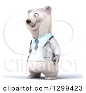 Clipart Of A 3d Happy Polar Bear Doctor Or Veterinarian Facing Slightly Left Royalty Free Illustration