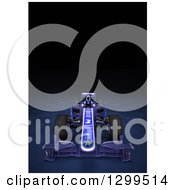 Clipart Of A 3d Formula One Race Car On Checkers With Text Space On Black 3 Royalty Free Illustration by Frank Boston