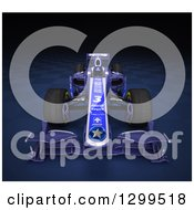 Clipart Of A 3d Formula One Race Car On Checkers 3 Royalty Free Illustration by Frank Boston