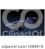 Clipart Of A 3d Formula One Race Car On Checkers Royalty Free Illustration by Frank Boston