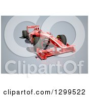 Clipart Of A 3d Formula One Red Race Car Royalty Free Illustration by Frank Boston
