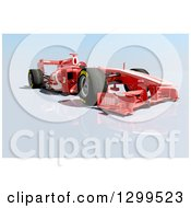 Clipart Of A 3d Formula One Red Race Car 2 Royalty Free Illustration