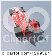 Clipart Of A 3d Formula One Red Race Car 3 Royalty Free Illustration